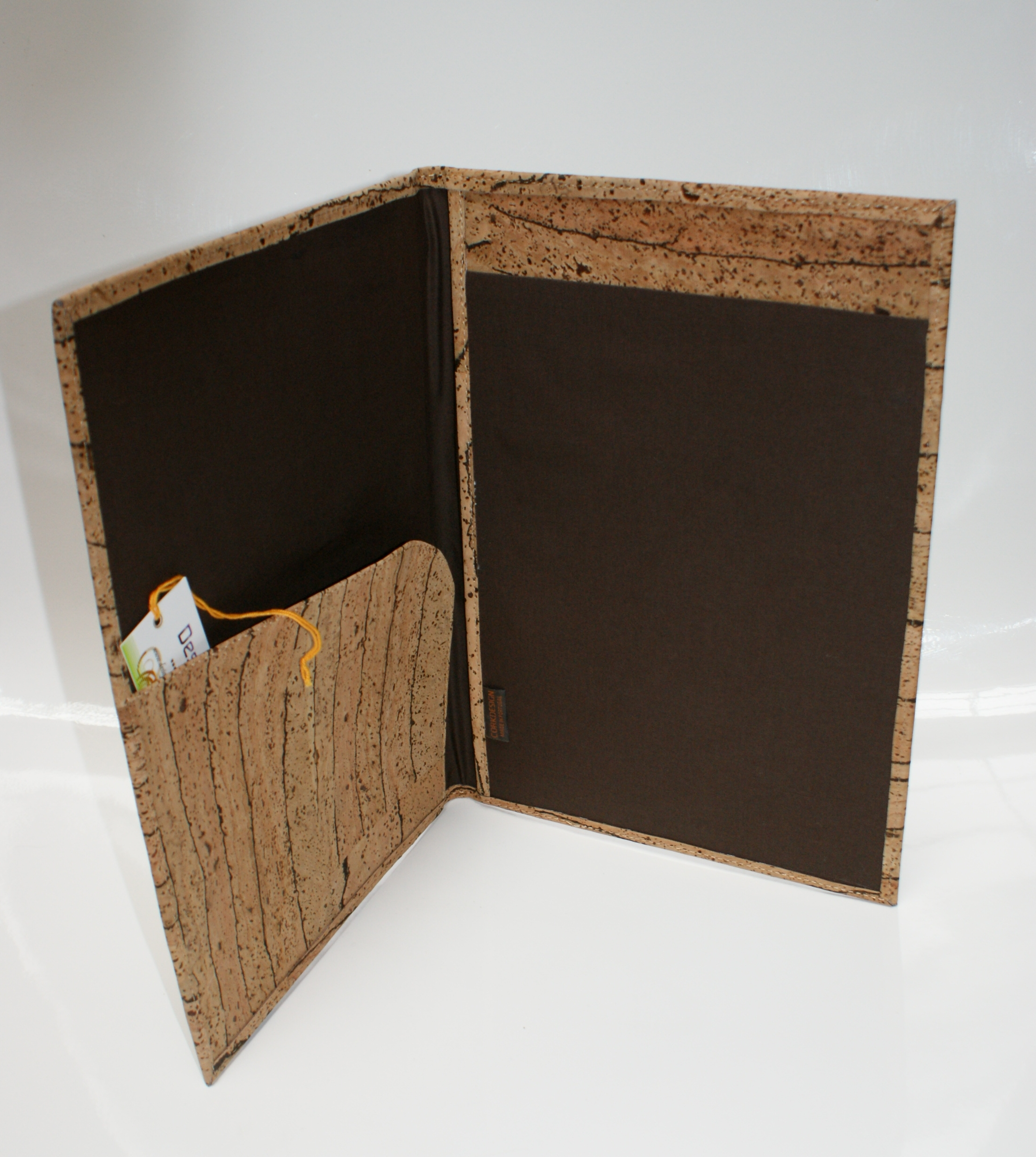 Cork Document Holder DIN A Rustic Pattern Design Textinova - Porte document a4