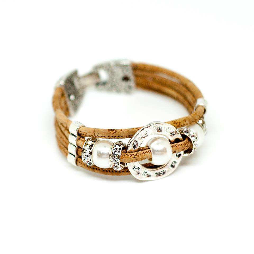 bracelet en li ge naturel fantaisie cercle et perle design textinova. Black Bedroom Furniture Sets. Home Design Ideas